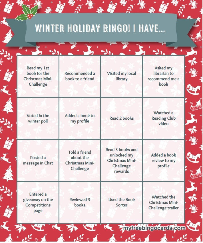 have you got your winter holiday bingo card yet