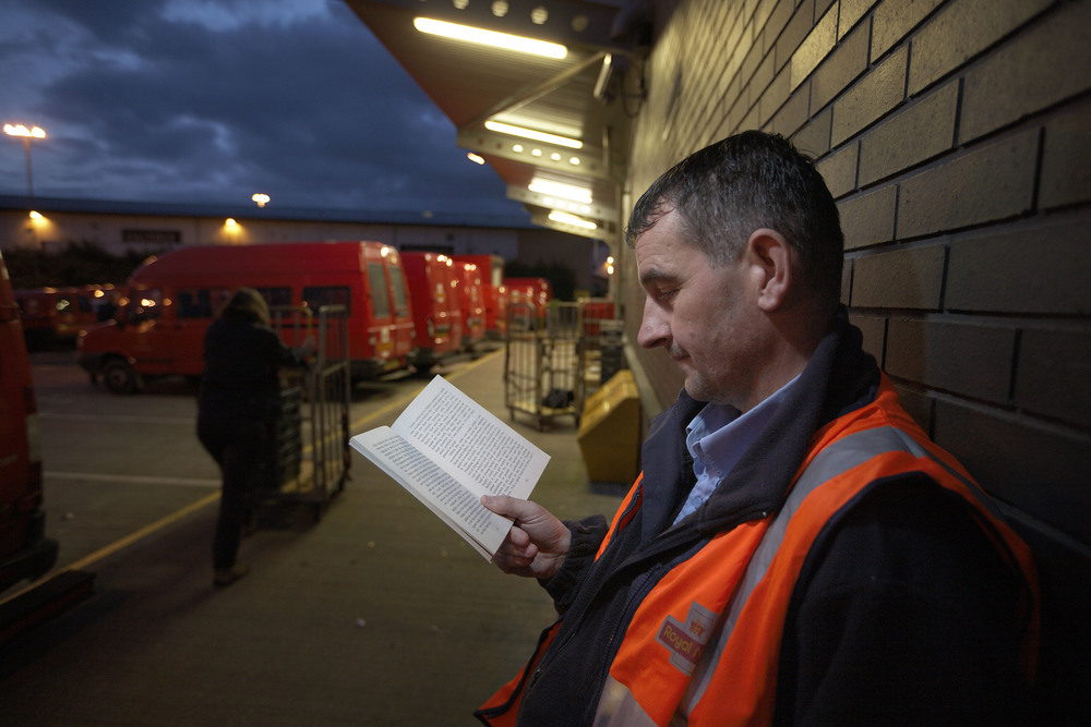 Large reading at royal mail depot in bradford. photo   the reading agency and justin sutcliffe.