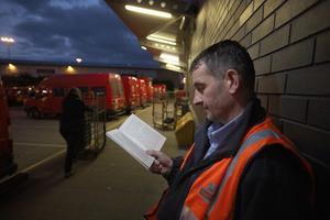 Small reading at royal mail depot in bradford. photo   the reading agency and justin sutcliffe.