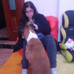 Jessenia Balanta, Cuidadora de mascotas en Ferrol