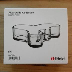 Aalto Bowl Malja. Klart glas. Ubrugt og  - Næstved - Aalto Bowl Malja. Klart glas. Ubrugt og stadig i æske. 40x136mm. - Næstved