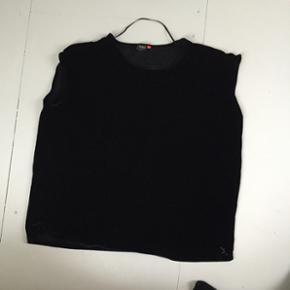 Tshirt-kjole i sort velour fra only. - Århus - Tshirt-kjole i sort velour fra only. - Århus