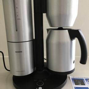 Siemens kaffemaskine. Et par år gammel. - Aalborg  - Siemens kaffemaskine. Et par år gammel. Bliver solgt da den ikke bliver brugt. Ingen skrammer. Brugsvejledning til afkalkning medfølger. Koglen er rengjort. - Aalborg