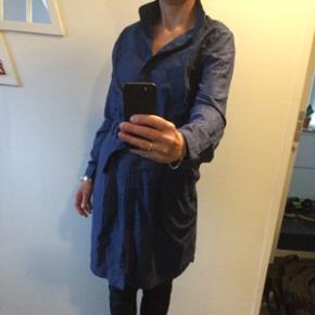 Jackpot kjole i blå bomuldstof. str. 38 - Næstved - Jackpot kjole i blå bomuldstof. str. 38. Med bælte. Byd! - Næstved