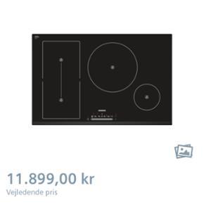 Siemens induktionsplade med tilhørende  - Esbjerg - Siemens induktionsplade med tilhørende grill plade til. Helt nyt og stadig i original emballage. Købt sidste år så der er stadig garanti. Ny pris var cirka 14.000. Vi købte også lidt andet tilbehør bla. Ting til rengøring af plade som k