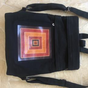 Taske rygtaske cotton stof med flere lom - Fredericia - Taske rygtaske cotton stof med flere lommer - Fredericia