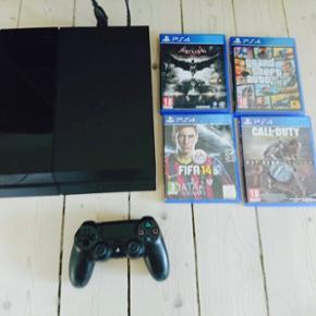 PS4 500GB med 4 spil ; har brugt flere g - Frederikshavn - PS4 500GB med 4 spil ; har brugt flere gang - Frederikshavn
