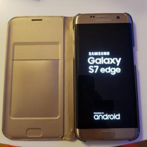 Samsung Galaxy s7 edge med få brugsskr? - Aalborg  - Samsung Galaxy s7 edge med få brugsskræmmer. Virker 100% :) Der sidder original samsung flip cover på :) - Aalborg