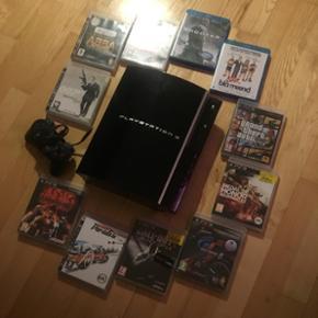 BYD!! PlayStation 3 med: 1 joystick, 2 f - Århus - BYD!! PlayStation 3 med: 1 joystick, 2 film, 2 mikrofon, 9 spil. - Århus
