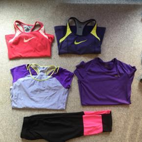 Sportstøj Toppe, str M (er solgt) Nike  - Billund - Sportstøj Toppe, str M (er solgt) Nike t-shirt, str L Craft t-shirt, str S Leggings, str L/XL Kan alt sammen passes af en str M. Pengene går til velgørenhed. - Billund