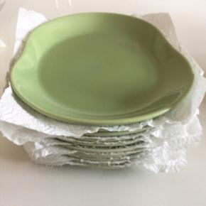 10stk grønne kähler frokost tallerkner - Odense - 10stk grønne kähler frokost tallerkner. Fejler intet. - Odense