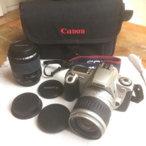 Canon EOS300 med 1 Canon linse 80-200 mm - København - Canon EOS300 med 1 Canon linse 80-200 mm, samt taske. Næsten ikke brugt. Perfekt stand. - København