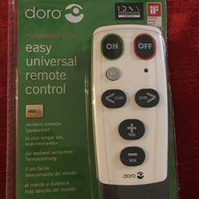 DORO Universal fjernbetjening ( til æld - Hillerød - DORO Universal fjernbetjening ( til ældre ) HELT NY. Købt til min mor's nye tv ( SHARP ) men den kan ikke anvendes til lige dette TV. Ny pris var 260kr Købt i januar 17. Måske du kan bruge den/ kender en der kan bruge den. - Hillerød