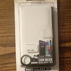 Hvidt cover til Samsung Galaxy S5 i ægt - København - Hvidt cover til Samsung Galaxy S5 i ægte læder med plads til kort. - København