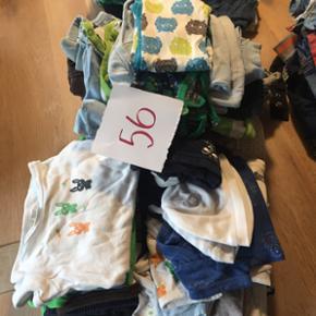 Blandet drengebørnetøj 65 dele + strø - Vejle - Blandet drengebørnetøj 65 dele + strømper, sko mm. Størrelse 56-98. Samlet pris - Vejle