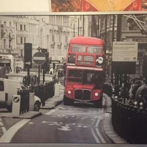 Billede af London bus Stort billede af L - Billund - Billede af London bus Stort billede af London bus, der måler 140cm100cm - Billund