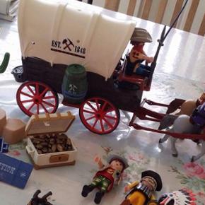 Playmobil Cowboys,heste og m.m. - Billund - Playmobil Cowboys,heste og m.m. - Billund