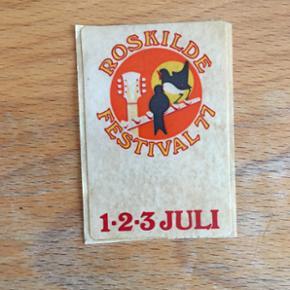 Klistermærke Roskilde Festival 1977 - København - Klistermærke Roskilde Festival 1977 - København
