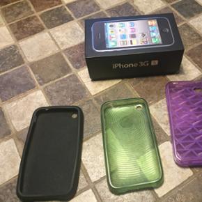 Antik iPhone 3G S 8 GB. Virker fint! Med - Hjørring - Antik iPhone 3G S 8 GB. Virker fint! Med oplader og små brugsridser. - Hjørring