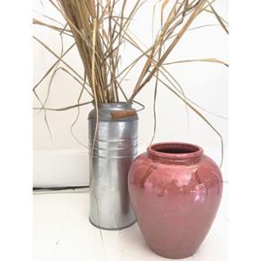 SMUK West Germany Vase i keramik med en  - København - SMUK West Germany Vase i keramik med en fantastisk meleret lyserød/koralfarvet glasur. 20cm høj og 17cm bred