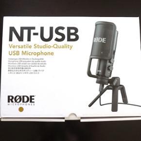 Nye Røde NT USB mikrofoner for optagels - Hillerød - Nye Røde NT USB mikrofoner for optagelse i studio kvalitet, aldrig brugt. Gav selv 1.989kr, så 900kr er det desværre en fast pris - Hillerød