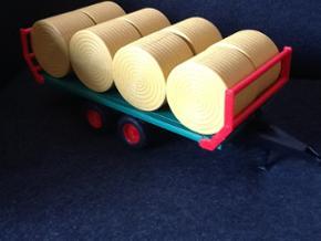 Bruder vogn med 8 rundballer, står som  - Bramming - Bruder vogn med 8 rundballer, står som ny. - Bramming