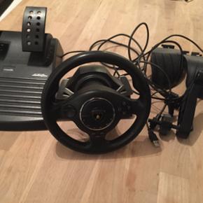 Atomic Gallardo Lamborghini Rat og pedal - Kolding - Atomic Gallardo Lamborghini Rat og pedaler til PS2 og 3 samt PC Er i god stand, virker som det skal uden problemer. Alt på billedet medfølger bortset fra æske og kvittering. Kan forhandles, skal hurtigt væk. - Kolding