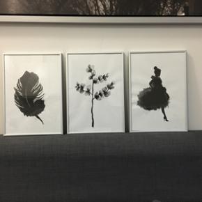 Hand drawn paintings 21x30 cm - Århus - Hand drawn paintings 21x30 cm - Århus
