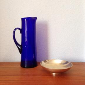Holmegaard glaskande, ca. 27 cm høj - l - Århus - Holmegaard glaskande, ca. 27 cm høj - lidt små ridser Messingskålen er solgt. - Århus