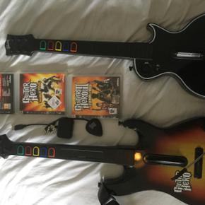 3 spil til PS3 og medfølgende guitarer - Haderslev - 3 spil til PS3 og medfølgende guitarer - Haderslev