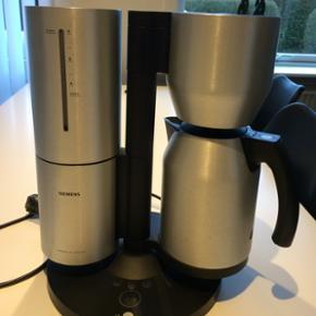 """Siemens Porsche kaffemaskine. Fungerer f - Esbjerg - Siemens Porsche kaffemaskine. Fungerer fint, men """"indmaden"""" i kanden er sprængt, og skal udskiftes. BYD - Esbjerg"""