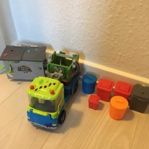 Trash pack skraldebil og skraldespand. 2 - Esbjerg - Trash pack skraldebil og skraldespand. 2 Figurer følger med. - Esbjerg