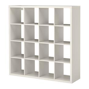 IKEA reol med 4x4 rum. De hvide kasser k - Århus - IKEA reol med 4x4 rum. De hvide kasser kan medkøbes. Byd! - Århus