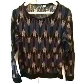Sweatshirt fra H&M str. M. Pink/ gul/sor - Aalborg  - Sweatshirt fra H&M str. M. Pink/ gul/sort/ petroleumsblå. Brugt et par gange. - Aalborg