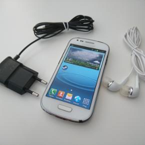 Samsung Galaxy S III Mini Hvid, God Idag - Århus - Samsung Galaxy S III Mini Hvid, God Idag har jeg til solgt en Samsung Galaxy S III Mini med 8GB intern hukommelse. Telefonen virker fint, men man kan se at den er brugt, fordi den er lidt slidt på kanterne. Produkt egenskaber Skærmstørrelse 4  - Århus