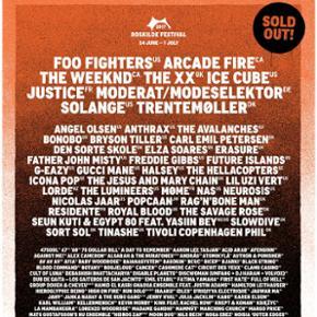 Sælger en Roskilde festival billet, Ful - København - Sælger en Roskilde festival billet, Full ticket