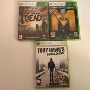 Byd Xbox 360 spil Uåbnet: the walking d - Roskilde - Byd Xbox 360 spil Uåbnet: the walking dead og metro last Night Brugt: Tony Hawks proving ground - Roskilde