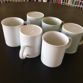 HAY kopper lyseblå 3 stk og hvide 3 stk - København - HAY kopper lyseblå 3 stk og hvide 3 stk. 99kr pr stk fra ny. Fuldstændig som nye - København