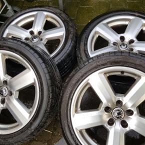 Aluminium fælge 225/45-17 dæk nokia en - Hjørring - Aluminium fælge 225/45-17 dæk nokia en. brugt 3 måneder - Hjørring