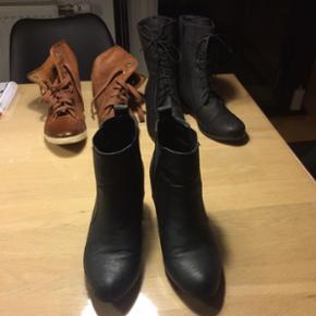 Forskellige sko sælges Sorte ankelstøv - Ribe - Forskellige sko sælges Sorte ankelstøvler - str 37 (Bianco) Sorte støvler - str 37 (BDK) Brune sko - str 38 ( tamaris) - Ribe