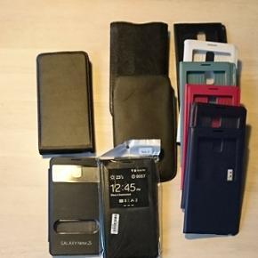 11 cover til Samsung galaxy note 3 til s - Esbjerg - 11 cover til Samsung galaxy note 3 til salgs. Læder flip cover, 2 læder pung, 1 s-view er helt nye og ubrugte og de s-view til højre på billedet er i lidt forskelligt stand. Det sælges for bare 150 kroner samlet. - Esbjerg