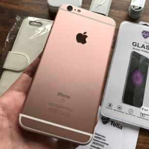 IPhone 6S Plus, 16 GB INKL. KVITTERING,  - Fredericia - IPhone 6S Plus, 16 GB INKL. KVITTERING, MEGET VELHOLDT IPHONE 6S PLUS ROSAGOLD. INGEN RIDSER PÅ SKÆRMEN OVERHOVEDET, DA DEN ALTID HAR HAFT PANSERGLAS PÅFØRT. EJ HELLER EN ENESTE RIDSE PÅ KANT ELLER BAGPÅ. DEN ER KOSMETISK, SOM EN NY...M - Fredericia