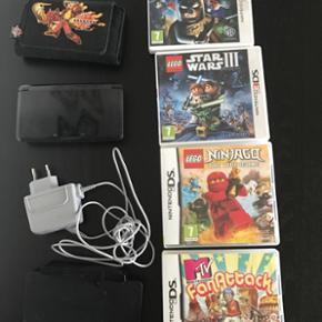 Nintendo 3DS med 4 spil og cover. Byd - Esbjerg - Nintendo 3DS med 4 spil og cover. Byd - Esbjerg