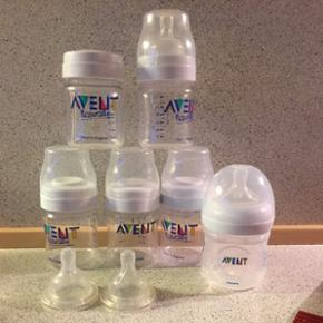Avent sutteflasker 6 stk + Avent sterili - Esbjerg - Avent sutteflasker 6 stk + Avent sterilisator til mikroovne. - Esbjerg