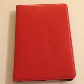 IPad mini cover, rødt kunstlæder, kan  - Aalborg  - IPad mini cover, rødt kunstlæder, kan roteres, ikke magnetisk - Aalborg