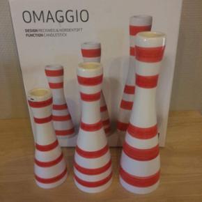 Kähler lysestage sæt (3 dele) i rød.  - Hjørring - Kähler lysestage sæt (3 dele) i rød. Fremstår som nye. Er i Hjørring/Farsø - Hjørring