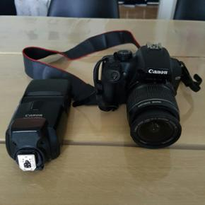 Canon 1000d kamera + canon speedlite 430 - Aalborg  - Canon 1000d kamera + canon speedlite 430ex ii flash sælges. Begge ting fungerer upåklageligt. Sd kort medfølger, samt lidt småt tilbehør. - Aalborg