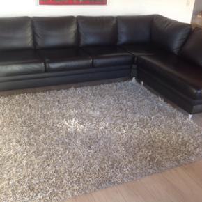 5 persons læder sofa 3x2m meget velhold - Fredericia - 5 persons læder sofa 3x2m meget velholdt - Fredericia