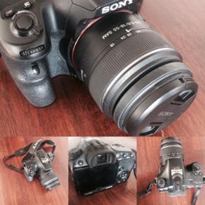 Sony Alpha A57 sælges med 18-55mm objek - Esbjerg - Sony Alpha A57 sælges med 18-55mm objektiv. Mit fine kamera sælges nu efter at jeg har opgraderet. Det er er super nemt kamera at bruge og tager gode billeder med et objektiv der kan bruges til det meste
