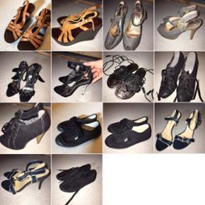 Sko, støvler, stiletter Str 35/36 Nogle - Roskilde - Sko, støvler, stiletter Str 35/36 Nogle brugt meget lidt, andre slet ikke BYD gerne :-) - Roskilde